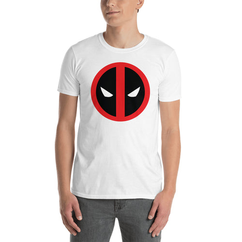 Deadpool Face T shirt Deadpool T shirt Short-Sleeve White Cotton T shirt for men