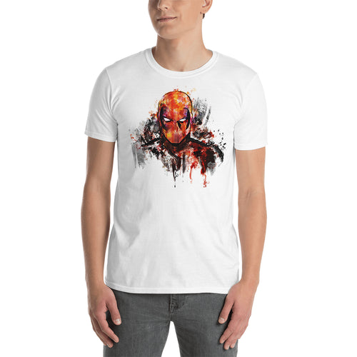Deadpool Color Art T shirt SuperHero T shirt White Short-Sleeve Cotton T shirt for men