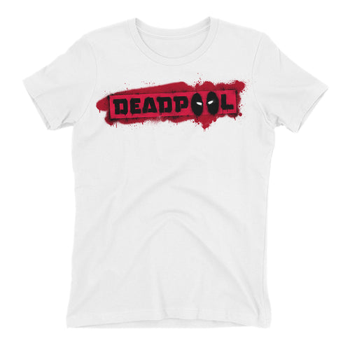Deadpool Logo T shirt Deadpool T shirt White Short-Sleeve Cotton T shirt for women