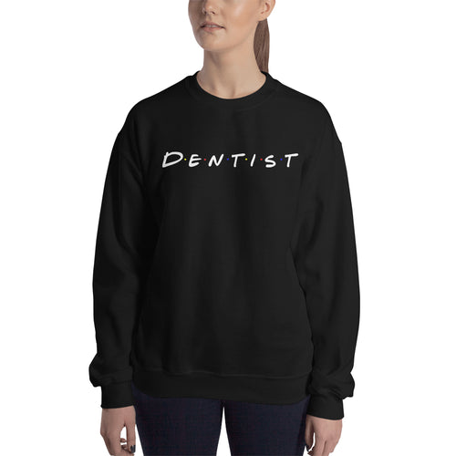 Friends Logo Sweatshirt Female Dentists Sweatshirt Black Friends Logo sweatshirt for Dental Students