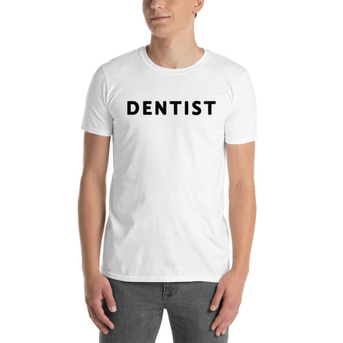 Doctor Profession T shirt Dentist T shirt White Cotton short-sleeve T shirt for men