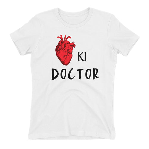 Cardiologist T shirt Dil ki Doctor T shirt White Short-Sleeve Cotton T shirt for women
