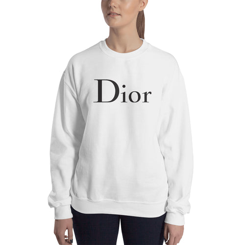 Dior Sweatshirt Branded Sweatshirt full-sleeve crew neck White Brand sweatshirt for women