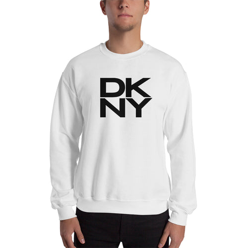 DKNY Sweatshirt Branded Sweatshirt full-sleeve crew neck White DKNY Fashion Brand sweatshirt for men