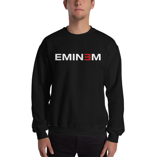 Musician Sweatshirt Eminem Sweatshirt Full-sleeve Black Eminem Sweatshirt for men