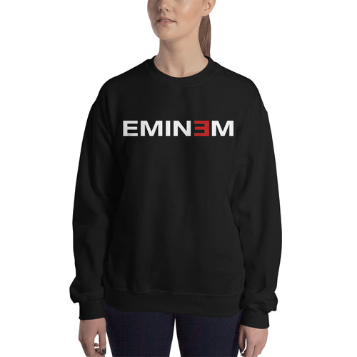 Musician Sweatshirt Eminem Sweatshirt Full-sleeve Black Eminem Sweatshirt for women