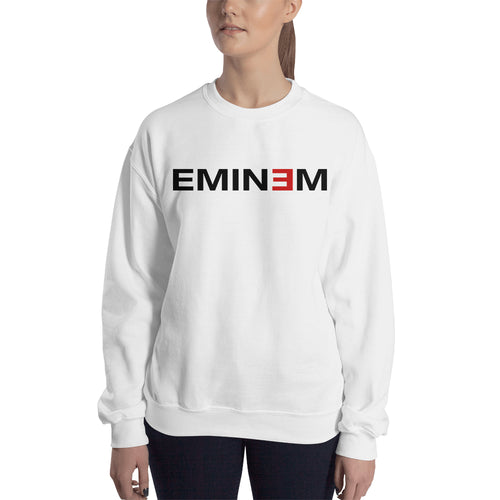 Eminem Sweatshirt Musician Sweatshirt Full-sleeve White Eminem Sweatshirt for women