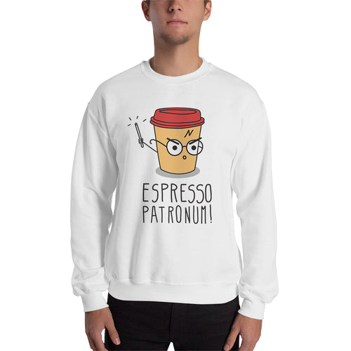 Espresso Patronum Sweatshirt Funny Espresso Coffee Sweatshirt White Cotton Sweatshirt for men