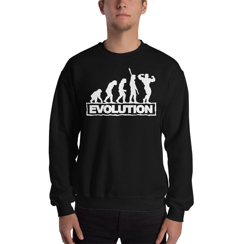 Gym Sweatshirt Fitness Sweatshirt Black Full-sleeve Fitness Evolution Sweatshirt for men