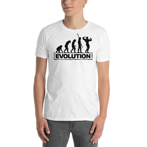 Weight Lifting T shirt Fitness Evolution T shirt Gym T shirt White Cotton Short Sleeve T shirt for men