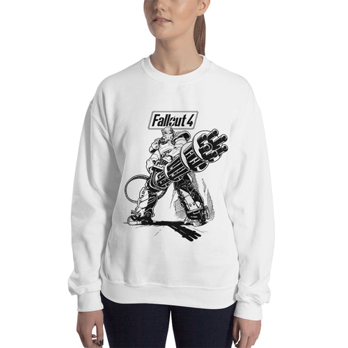 Fall Out 4 Sweatshirt Gaming sweatshirt White Crew Neck Gaming sweatshirt for women