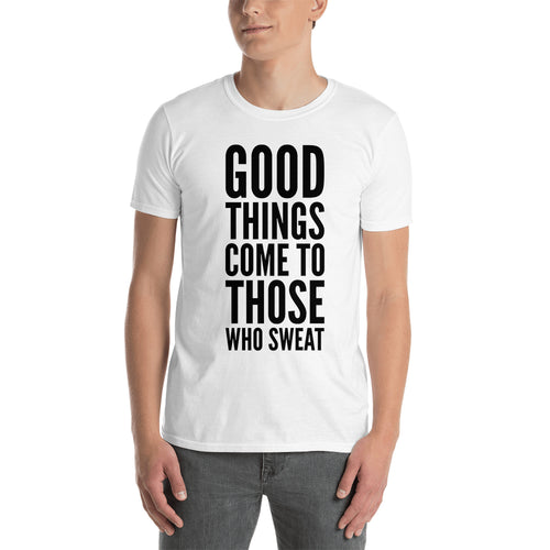 Fitness Quote T shirt Motivational Quote T shirt Gym T shirt Short-sleeve Cotton White T shirt for men