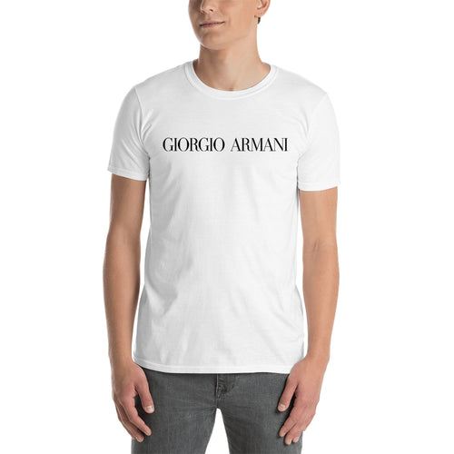 Giorgio Armani Brand T shirt Branded T shirt White Half-sleeve Cotton T shirt for men