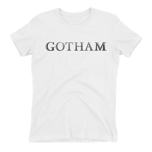 Gotham logo t shirt TV series t shirt White short sleeve Gotham t shirt for women