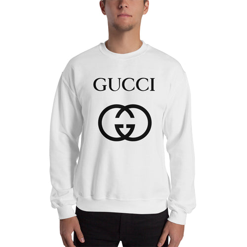 Branded Sweatshirt Gucci brand Sweatshirt full-sleeve crew neck White Gucci sweatshirt for men