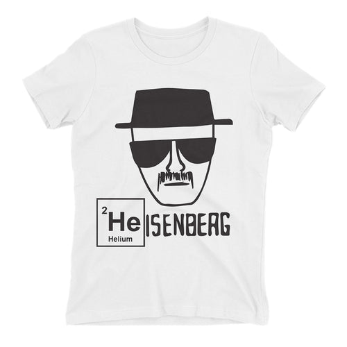 Heisenberg t shirt Breaking Bad t shirt White Cotton Short-sleeve Heisenberg t shirt for women