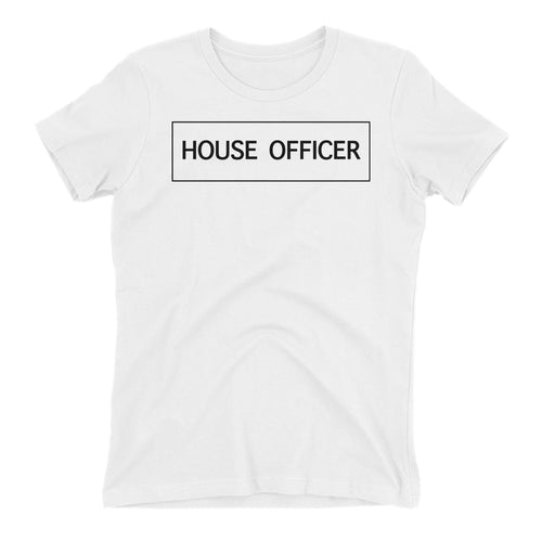 House Officer T shirt White Doctor T shirt Short-Sleeve Cotton T shirt for women