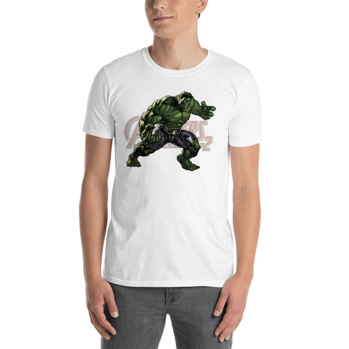Hulk T shirt SuperHero Charactor T shirt short-sleeve White Cotton T shirt for men