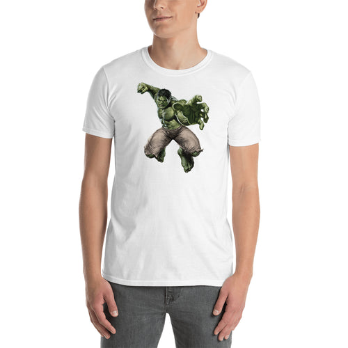 Hulk T shirt SuperHero T shirt White short-sleeve Cotton T shirt for men