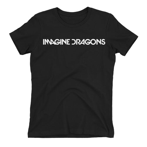 Music T shirt Imagine Dragons T shirt Short-sleeve Black Cotton DJ T shirt for women