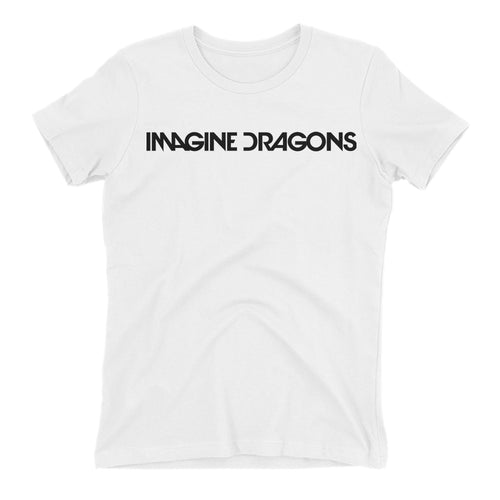 Imagine Dragons T shirt Music T shirt Short-sleeve White Cotton Music DJ T shirt for women
