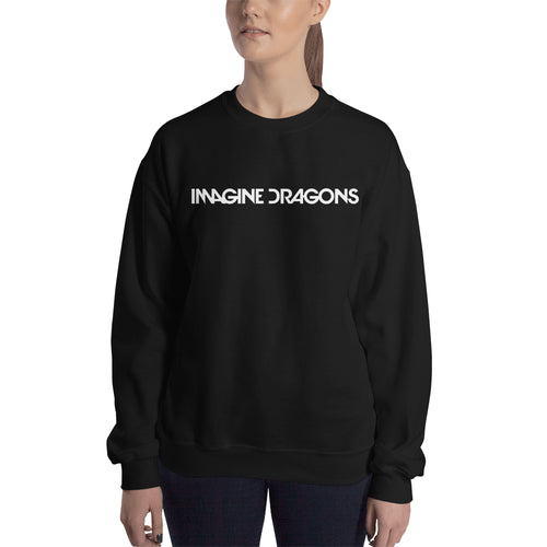 Music Sweatshirt Imagine Dragons Sweatshirt Black Cotton Music DJ Sweatshirt for women