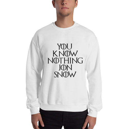 Game of Thrones Sweatshirt Jon Snow Sweatshirt Cotton White TV series Sweatshirt for men