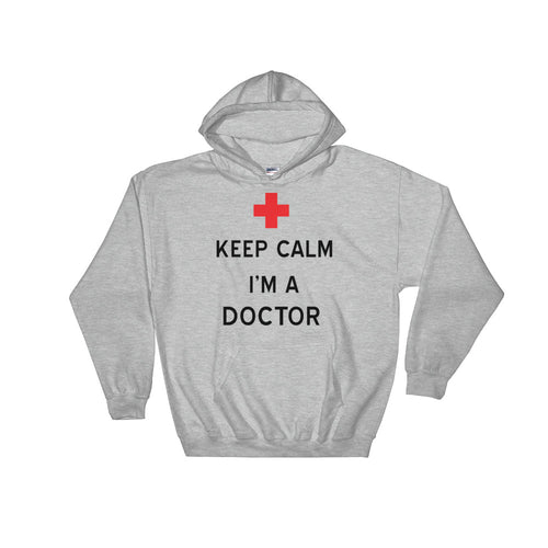 Keep calm I am A Doctor T Shirt White 100% Cotton Hoodie Sweatshirt for Lady Doctors