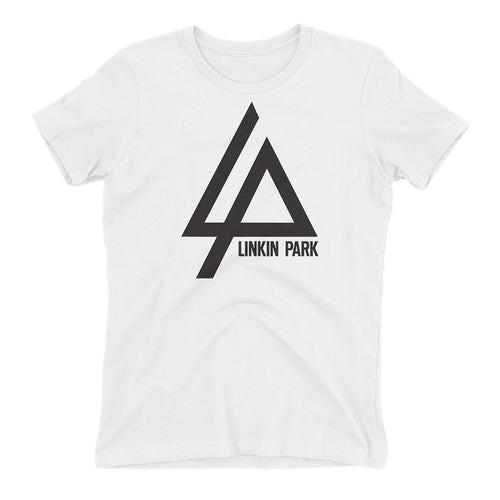 Linkin Park Logo T shirt Linkin Park T shirt Short-sleeve White Cotton T shirt for women