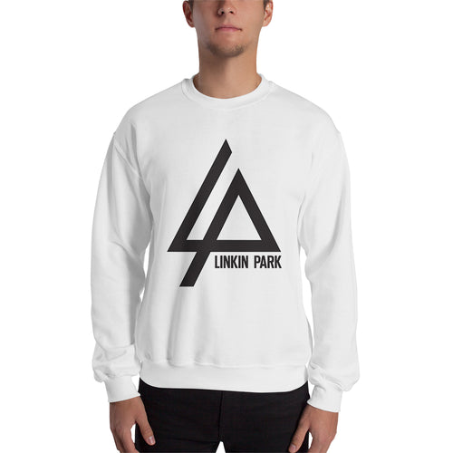 Linkin Park Logo Sweatshirt Linkin Park Band Sweatshirt White Cotton Linkin Park Sweatshirt for men