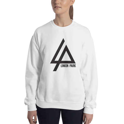 Linkin Park Logo Sweatshirt Linkin Park Band Sweatshirt White Cotton Linkin Park Sweatshirt for women