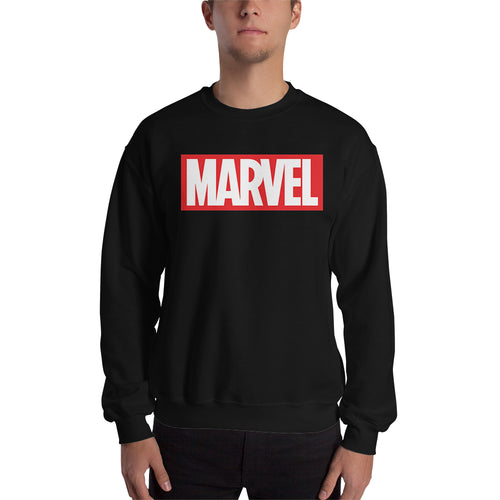 Marvel Sweatshirt Black Long Sleeve Cotton-Polyester Marvel Sweatshirt for men