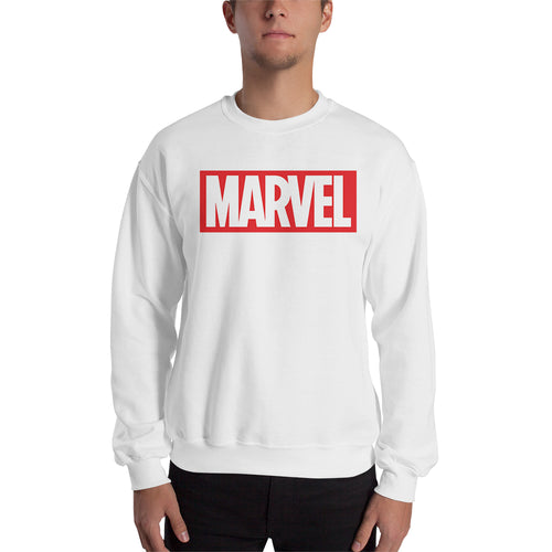 Marvel Sweatshirt White Long Sleeve Cotton-Polyester Marvel Sweatshirt for men