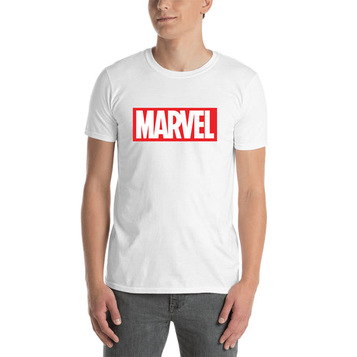 Marvel T shirt White Short Sleeve Cotton T shirt for men