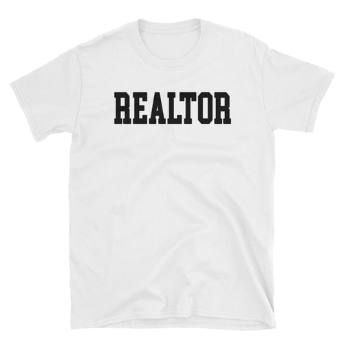 Realtor T Shirts White Color Real Estate Agent T Shirt Short-Sleeve Cotton T-Shirt for Women Property Dealers