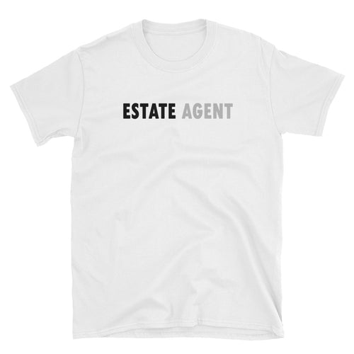 Estate Agent T Shirt White Color Realtor T Shirt Short-Sleeve Cotton T-Shirt for Women Property Agents