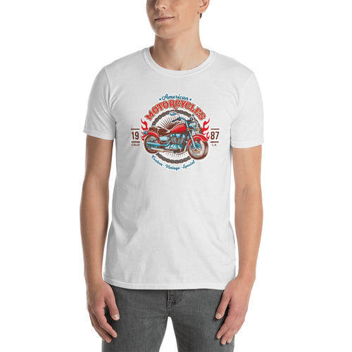 Vintage Motorcycle T Shirt White Triumph California Custom Vintage Biker T Shirt for Men - Dafakar
