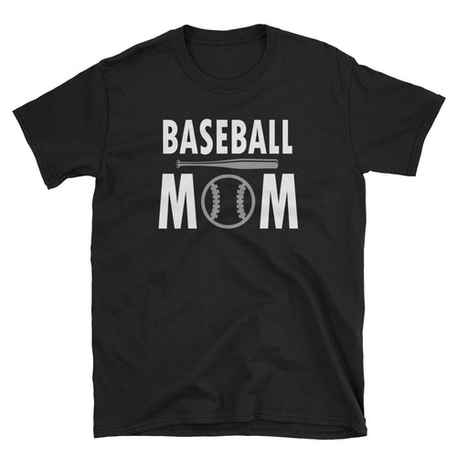 Baseball Mom T Shirt Black Short-Sleeve Unisex Baseball Mom T Shirt - Dafakar