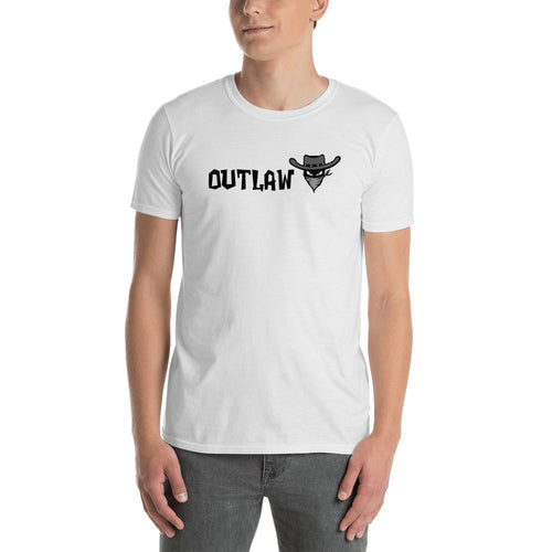 Outlaw T Shirt White Outlaw One Word T Shirt for Men