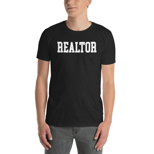 Realtor T Shirts Black Real estate Agent T Shirt Short-Sleeve Cotton T-Shirt for property dealers
