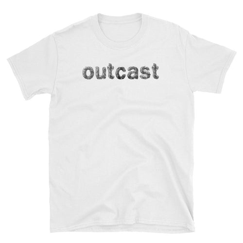 Outcast T Shirt White One Word Outcast T Shirt for Women