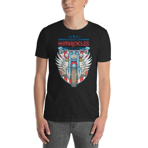 American Motorcycle Est 1987 T Shirt Classic Racer Motorbike T Shirt for Men - Dafakar