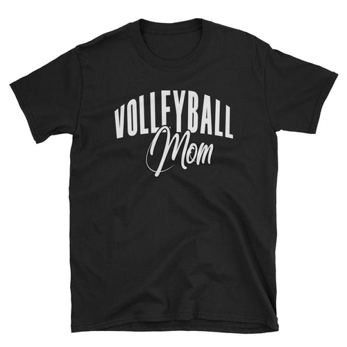 Volleyball Mom T Shirt Black Volleyball Gift T Shirt for Sporty Mums - Dafakar