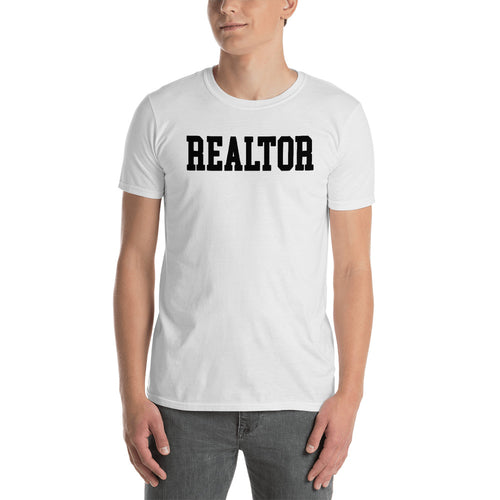 Realtor T Shirts White Color Real Estate Agent T Shirt Short-Sleeve Cotton T-Shirt for Property Dealers