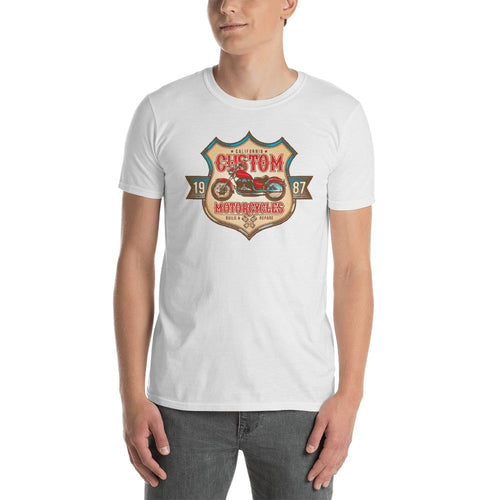 Custom Old Fashion Motorbike T Shirt White Classic Motorcycle T Shirt for Men - Dafakar