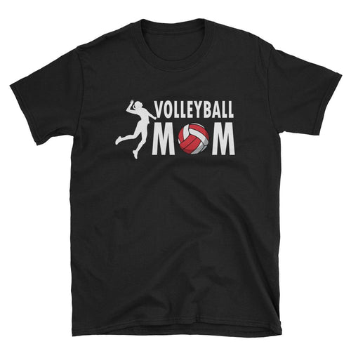 Volleyball Mom T Shirt Black Volleyball Slam Dunk T Shirt Mother's Day Gifts Volley Ball T Shirt - Dafakar