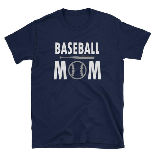 Baseball Mom T Shirt Navy Short-Sleeve Unisex Baseball Mom T Shirt - Dafakar