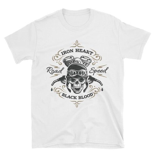 Road Speed Biker T Shirt White Motorcycle Bike T Shirt for Men - Dafakar