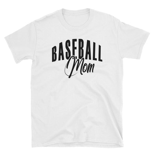 Baseball Mom T Shirt White Baseball Tee Gift All Sizes Including  Plus Size Baseball Mum T Shirt - Dafakar