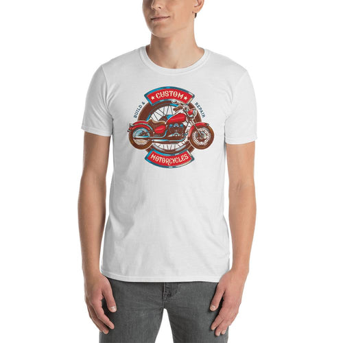 Custom Retro Vintage Motorcycle T Shirt White Triumph Biker T Shirt for Men - Dafakar